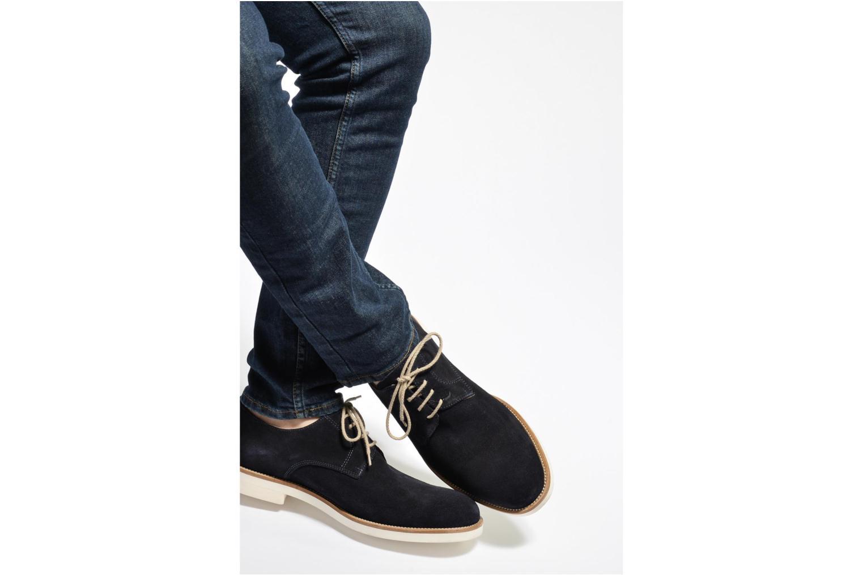 Chaussures à lacets Mr SARENZA Calgary Bleu vue bas / vue portée sac