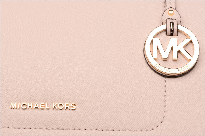 Bolsos de mano Michael Michael Kors WALSH LG EW TZ TOTE Rosa vista lateral izquierda