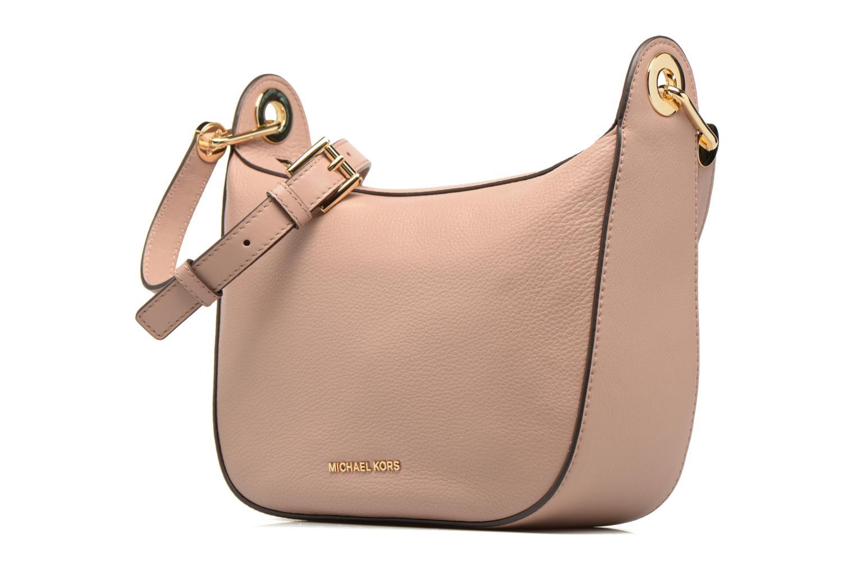 Handbags Michael Michael Kors RAVEN MD MESSENGER Pink model view