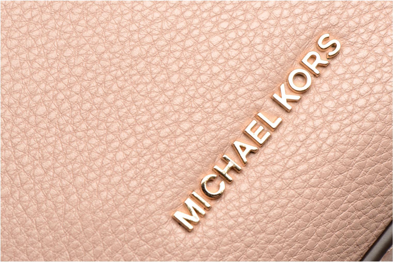 Bolsos de mano Michael Michael Kors RAVEN MD MESSENGER Rosa vistra trasera