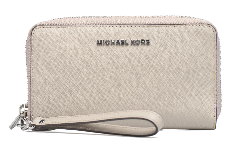 Marroquinería pequeña Michael Michael Kors JET SET LG FLATPHONE CASE Gris vista de detalle / par