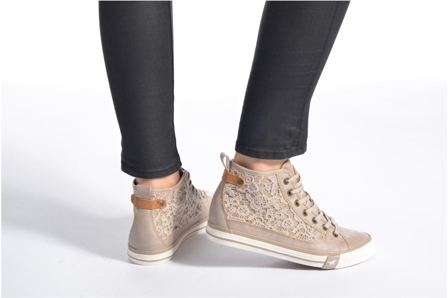 Sneakers Mustang shoes Nola Beige immagine dal basso