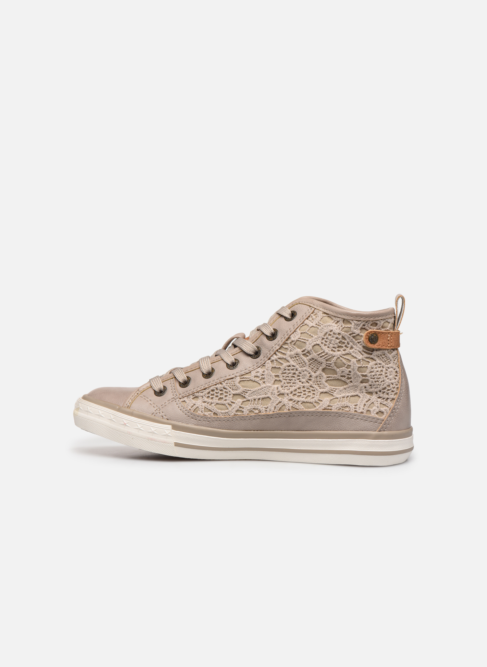 Sneakers Mustang shoes Nola Beige immagine frontale
