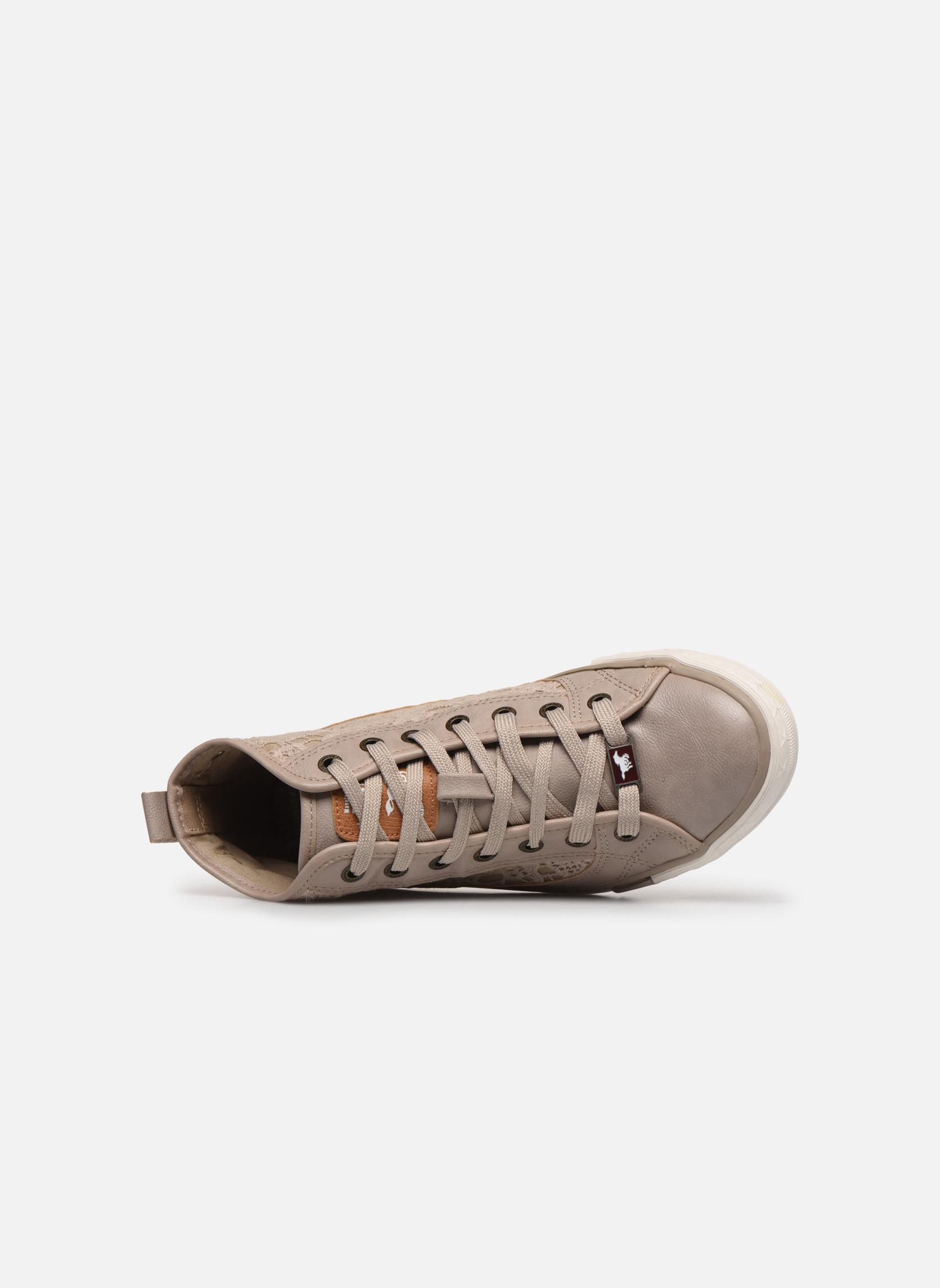 Baskets Mustang shoes Nola Beige vue gauche
