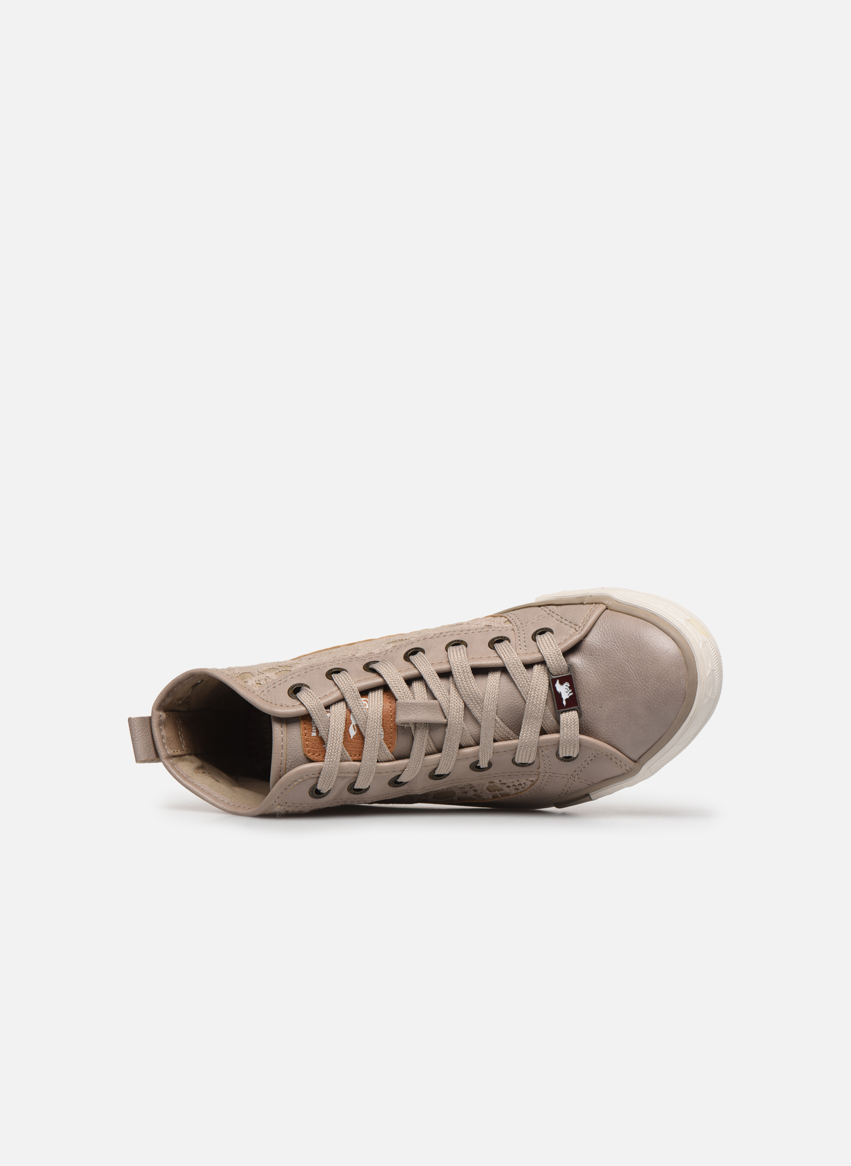 Sneakers Mustang shoes Nola Beige immagine sinistra