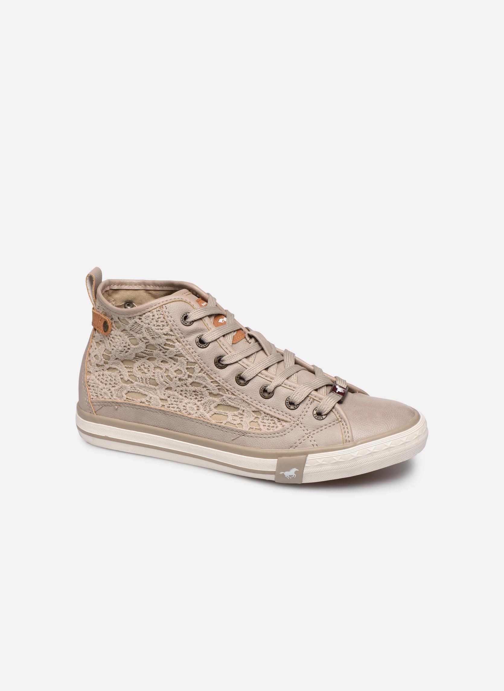 Baskets Mustang shoes Nola Beige vue détail/paire
