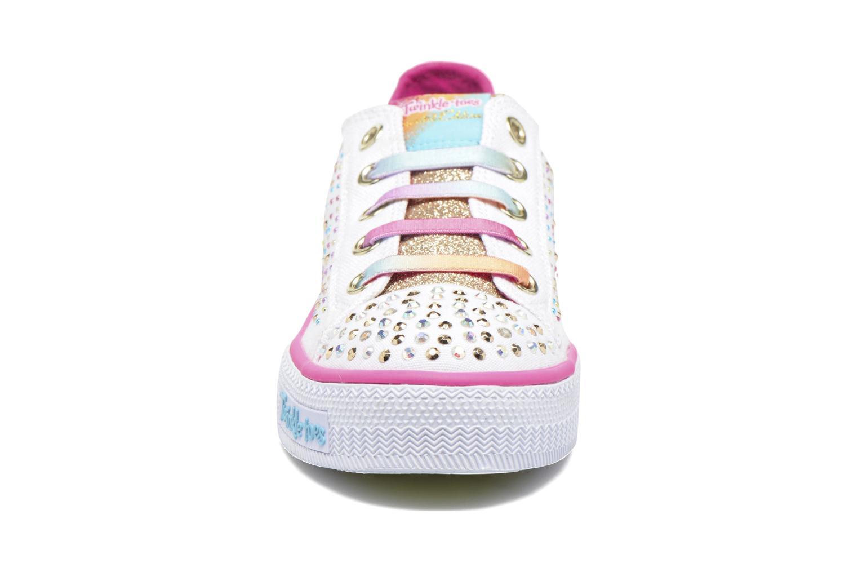 Sneaker Skechers Shuffles Twirly Toes mehrfarbig schuhe getragen