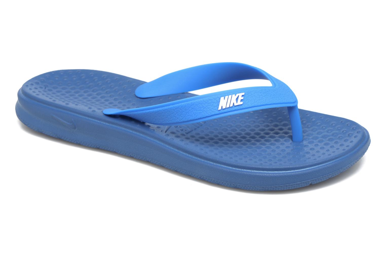 Tongs Nike Nike Solay Thong (Gs/Ps) Bleu vue détail/paire