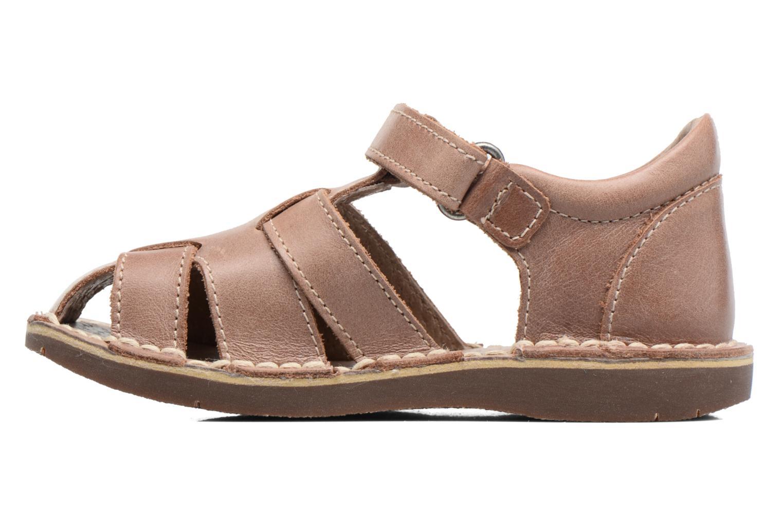 Sandales et nu-pieds Kickers Willoh Marron vue face