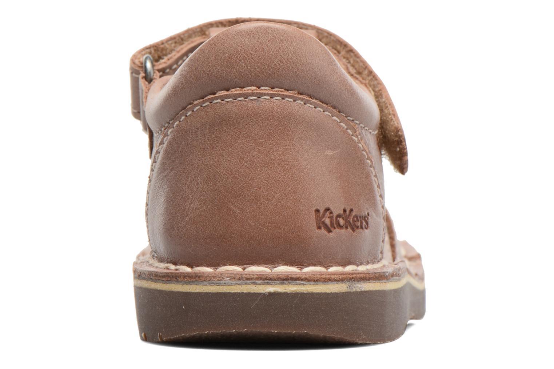 Sandales et nu-pieds Kickers Willoh Marron vue droite