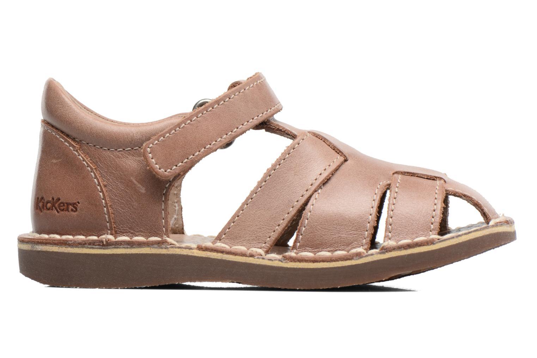 Sandales et nu-pieds Kickers Willoh Marron vue derrière