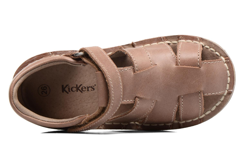 Sandales et nu-pieds Kickers Willoh Marron vue gauche