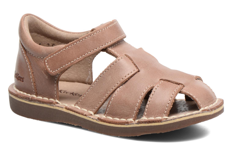 Sandales et nu-pieds Kickers Willoh Marron vue détail/paire