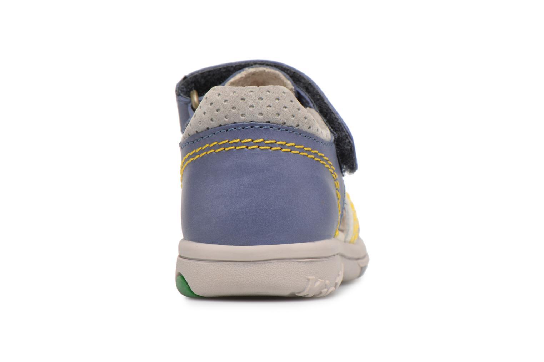 Sandales et nu-pieds Kickers Platiback Bleu vue droite