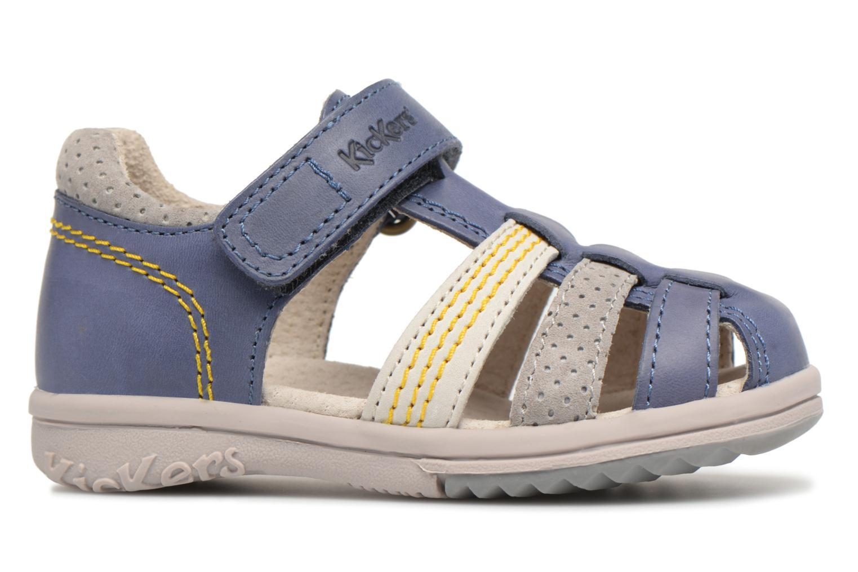 Sandales et nu-pieds Kickers Platiback Bleu vue derrière