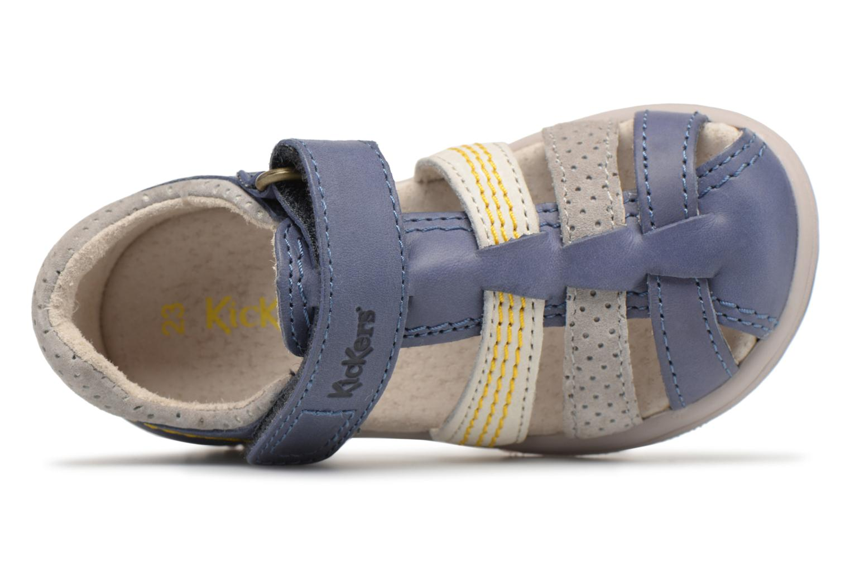 Sandali e scarpe aperte Kickers Platiback Azzurro immagine sinistra