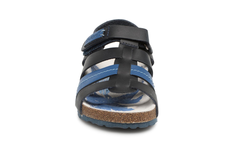Sandales et nu-pieds Kickers Magiteam Bleu vue portées chaussures