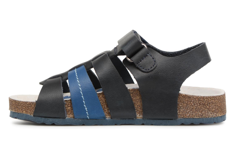 Sandales et nu-pieds Kickers Magiteam Bleu vue face