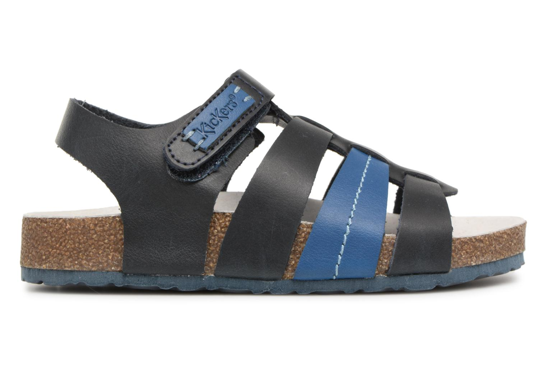 Sandales et nu-pieds Kickers Magiteam Bleu vue derrière