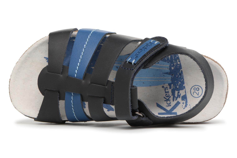Sandalias Kickers Magiteam Azul vista lateral izquierda