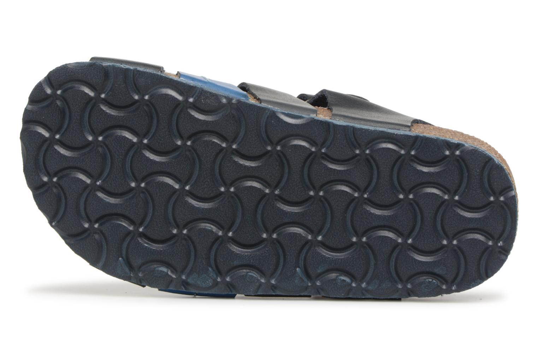 Sandales et nu-pieds Kickers Magiteam Bleu vue haut
