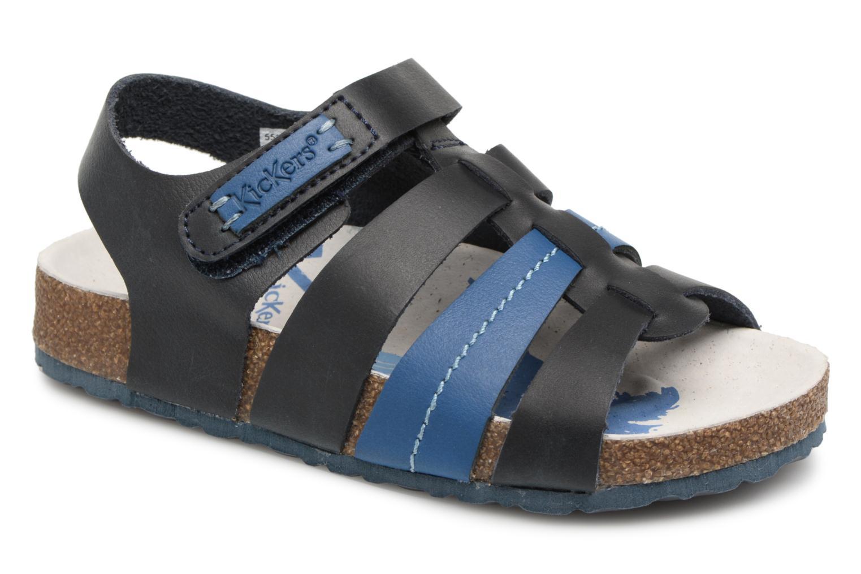 Sandalias Kickers Magiteam Azul vista de detalle / par