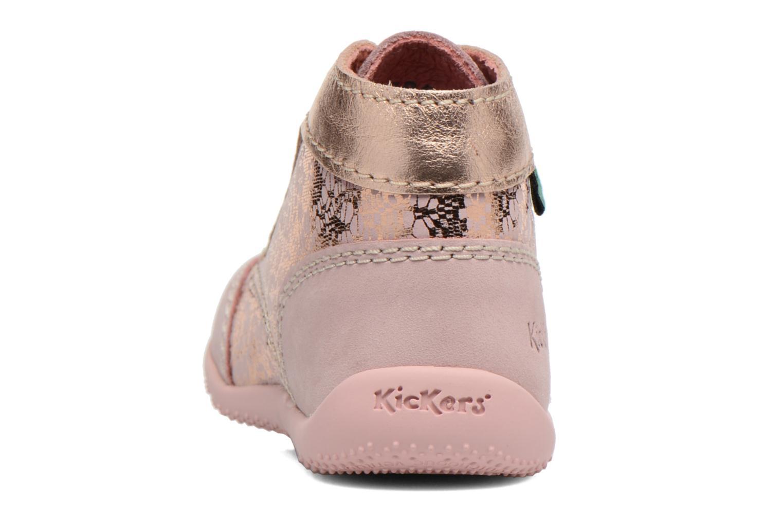 Zapatos con cordones Kickers Boetik Rosa vista lateral derecha