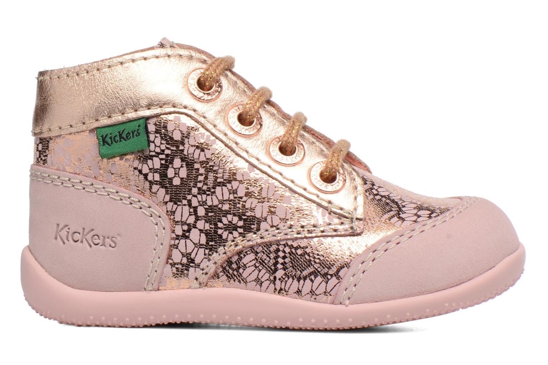 Zapatos con cordones Kickers Boetik Rosa vistra trasera