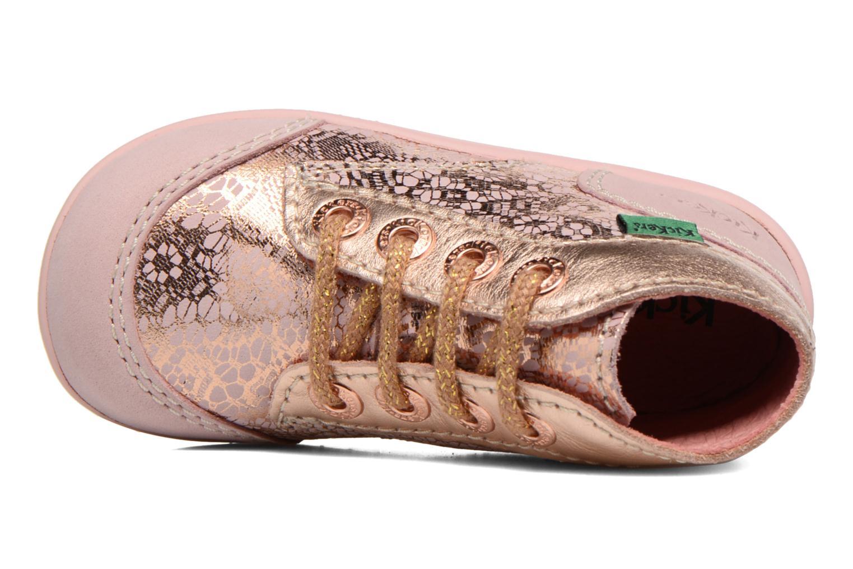 Zapatos con cordones Kickers Boetik Rosa vista lateral izquierda