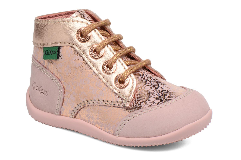 Zapatos con cordones Kickers Boetik Rosa vista de detalle / par