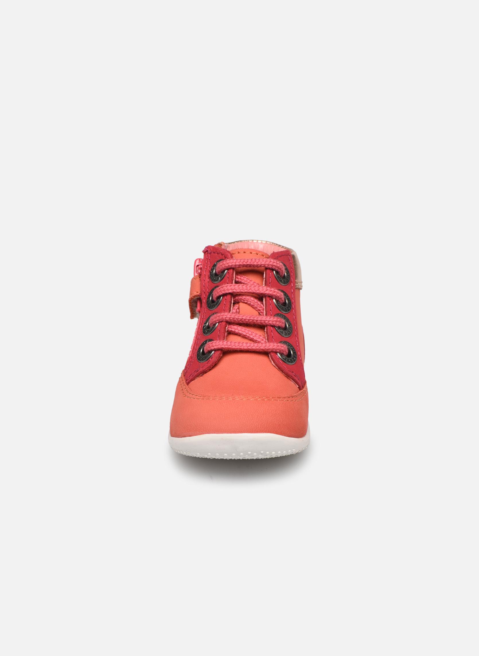 Zapatos con cordones Kickers Biflorid Naranja vista del modelo