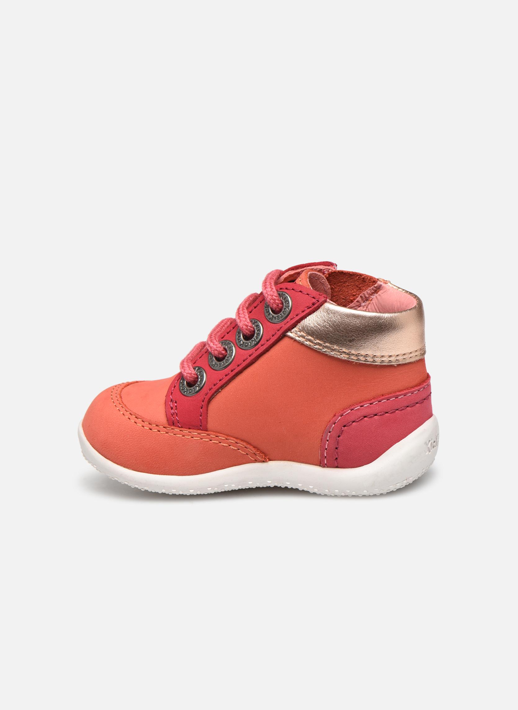 Zapatos con cordones Kickers Biflorid Naranja vista de frente