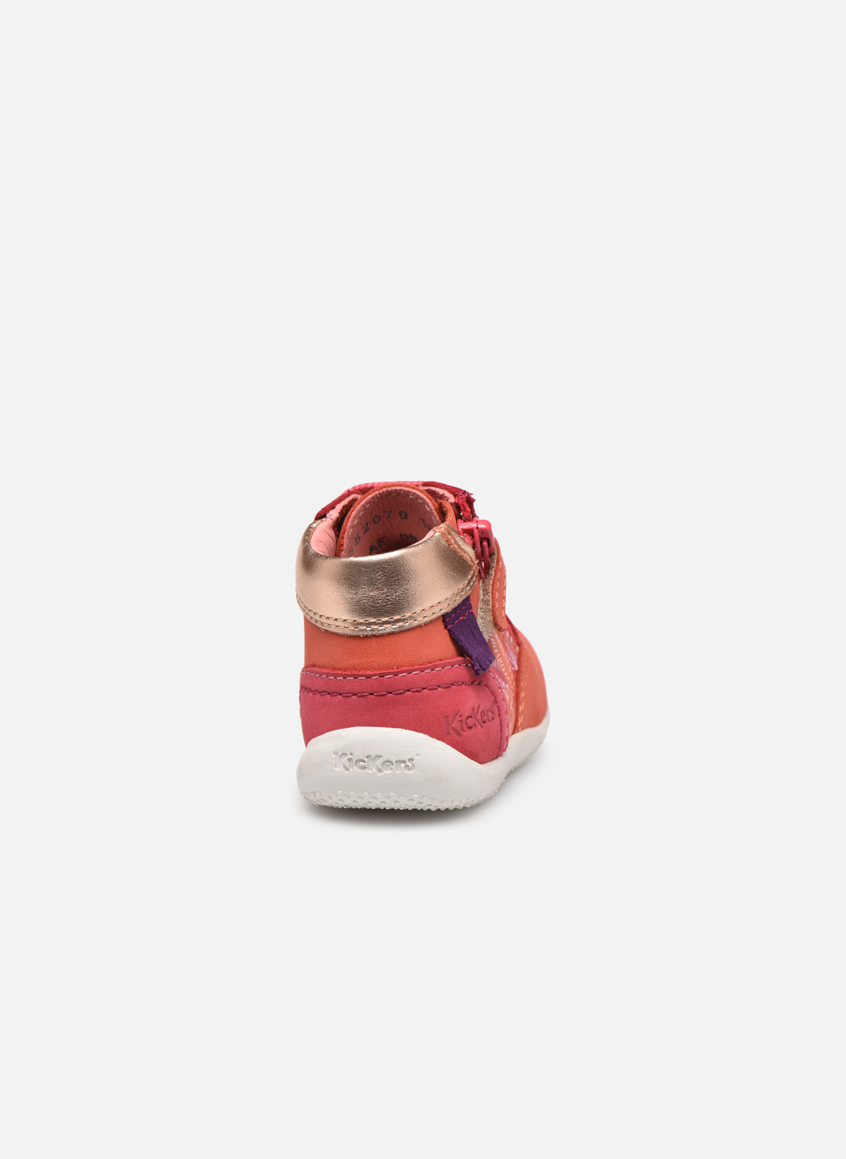 Zapatos con cordones Kickers Biflorid Naranja vista lateral derecha