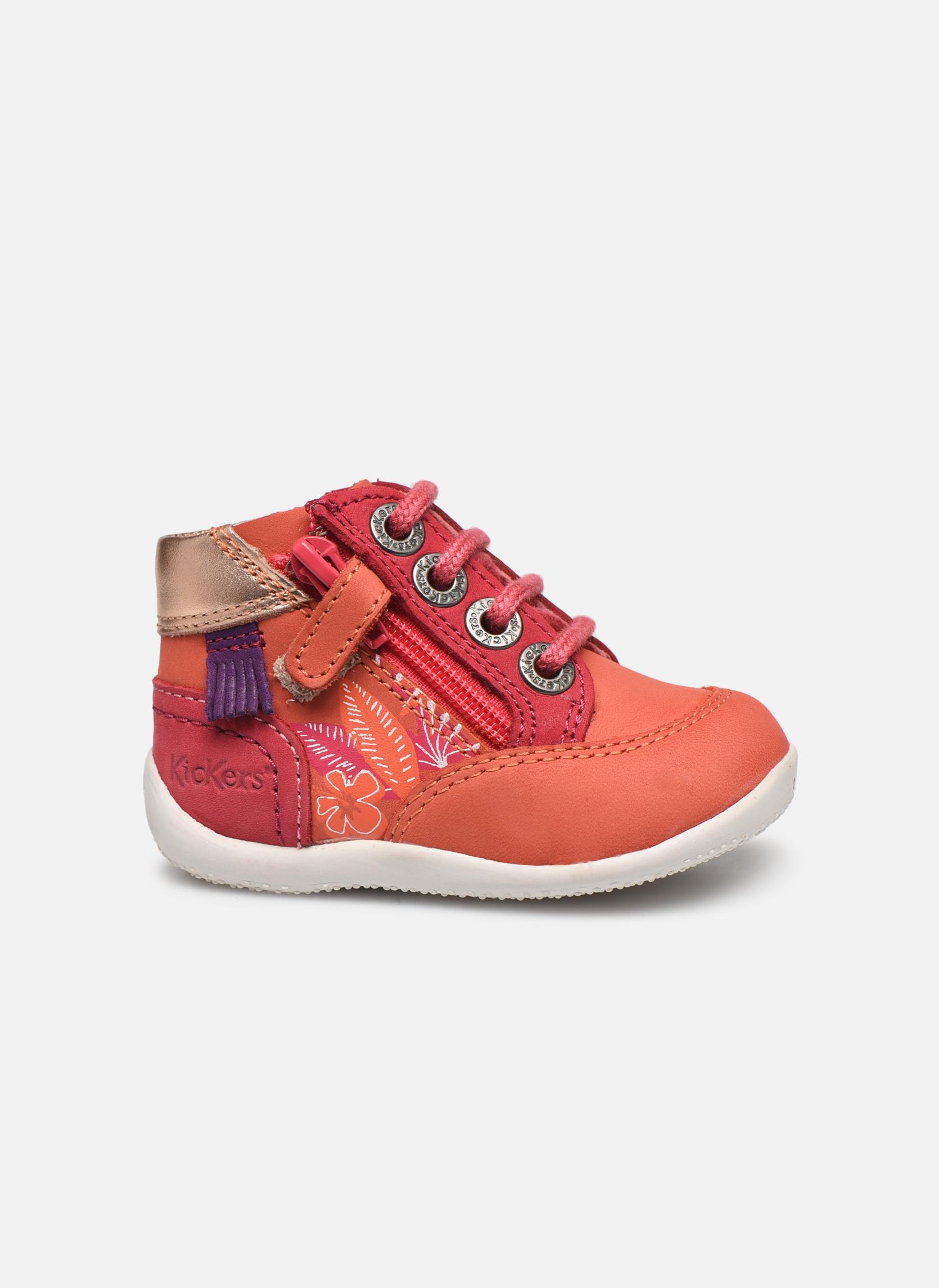 Zapatos con cordones Kickers Biflorid Naranja vistra trasera