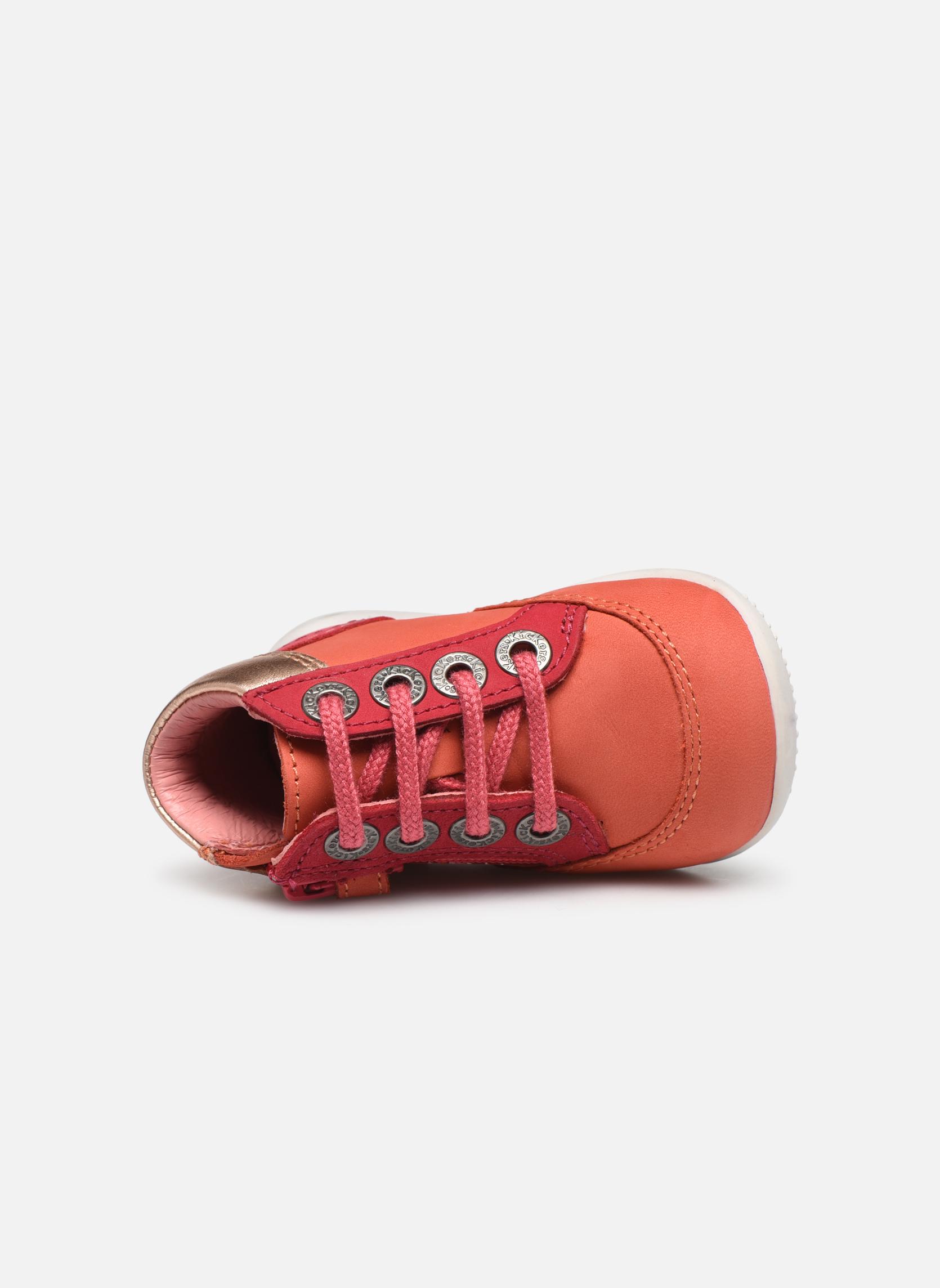 Zapatos con cordones Kickers Biflorid Naranja vista lateral izquierda