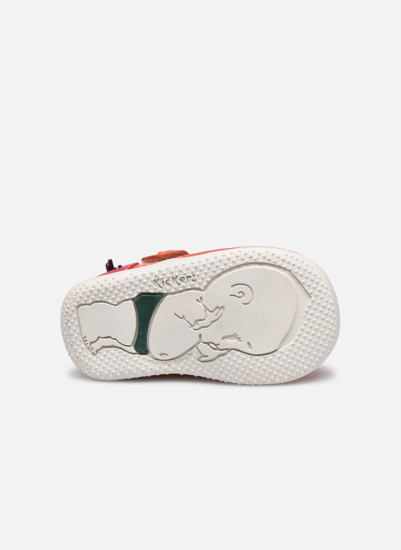 Zapatos con cordones Kickers Biflorid Naranja vista de arriba