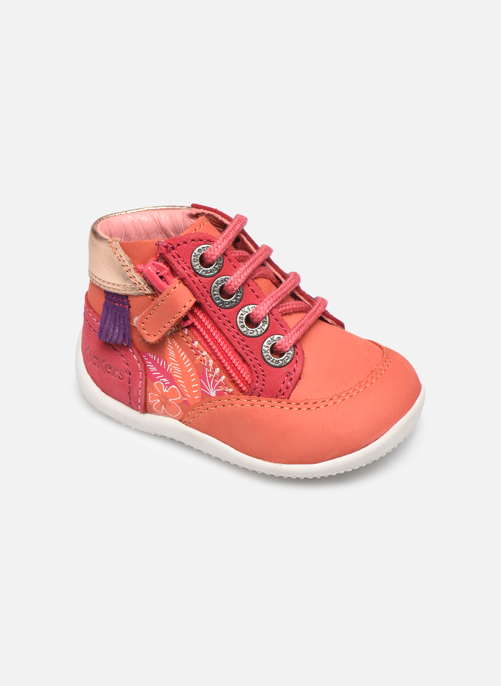 Zapatos con cordones Kickers Biflorid Naranja vista de detalle / par