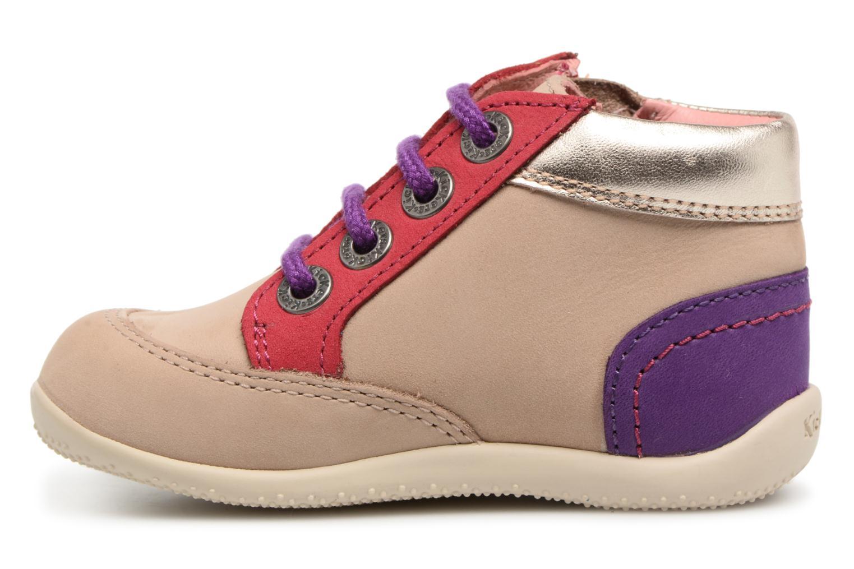 Zapatos con cordones Kickers Biflorid Beige vista de frente