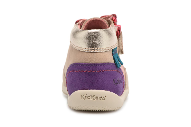 Zapatos con cordones Kickers Biflorid Beige vista lateral derecha
