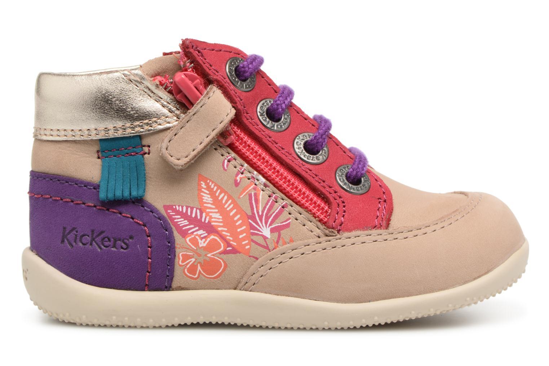 Zapatos con cordones Kickers Biflorid Beige vistra trasera