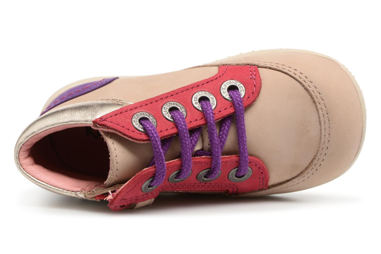 Zapatos con cordones Kickers Biflorid Beige vista lateral izquierda