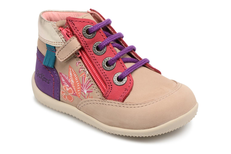 Zapatos con cordones Kickers Biflorid Beige vista de detalle / par