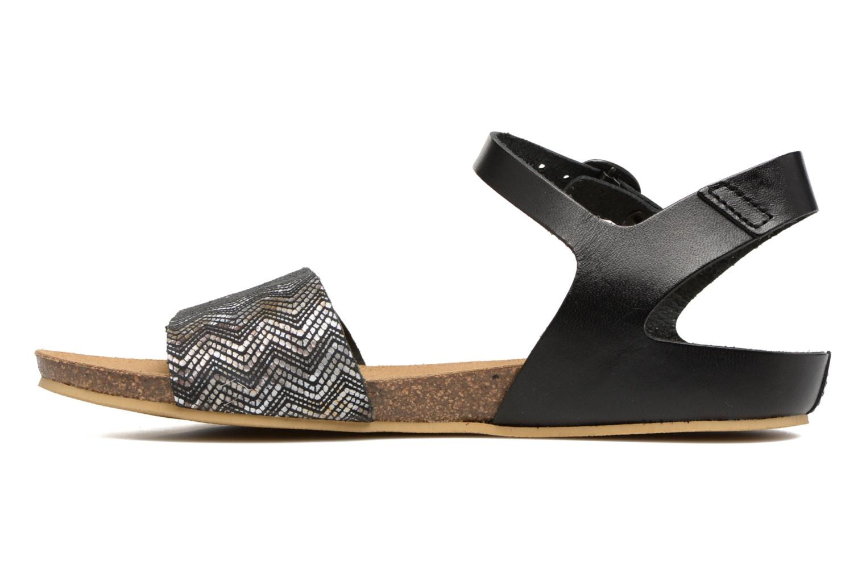 Sandales et nu-pieds Kickers Bomboms Noir vue face