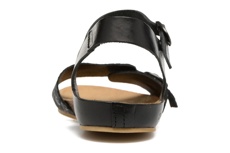 Sandales et nu-pieds Kickers Bomboms Noir vue droite
