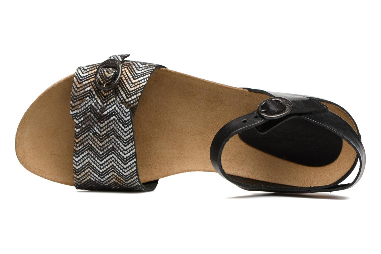 Sandales et nu-pieds Kickers Bomboms Noir vue gauche