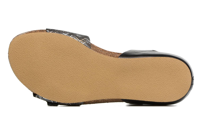 Sandales et nu-pieds Kickers Bomboms Noir vue haut