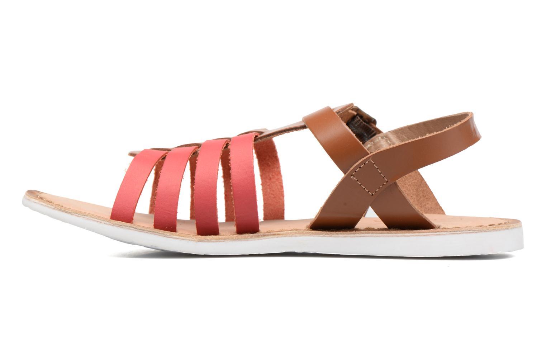 Sandalen Kickers Sparta rosa ansicht von vorne