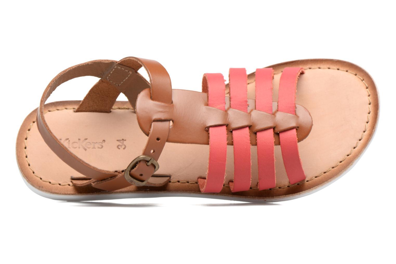 Sandaler Kickers Sparta Pink se fra venstre