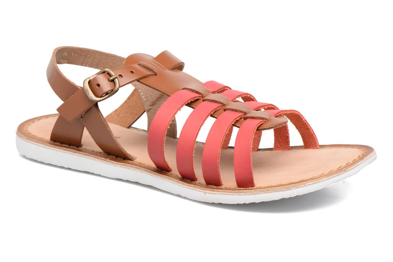 Sandaler Kickers Sparta Pink detaljeret billede af skoene