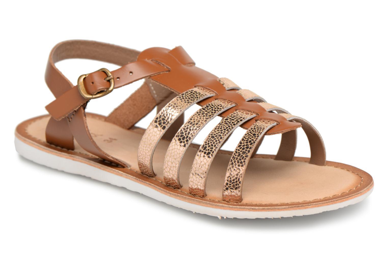 Sandales et nu-pieds Kickers Sparta Marron vue détail/paire